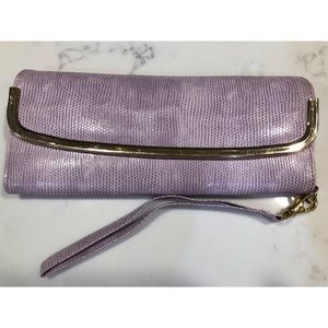 Urban Outfitters Patent Snakeskin Clutch/Wristlet